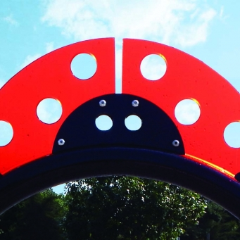 Ladybug Hoop
